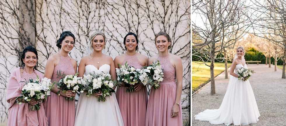 Dusty pink Bridemaid dresses