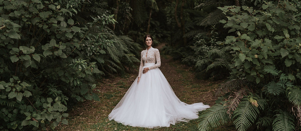 Bride in Native bush
