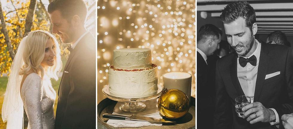 Wedding cake fairy lights