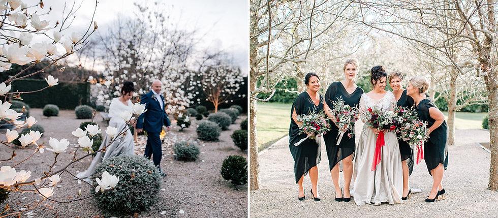 Denudata Magnolias winter wedding