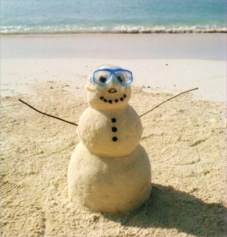 Seven Mile Beach Cayman Sand Snowman, Grand Cayman The Traveling Locals
