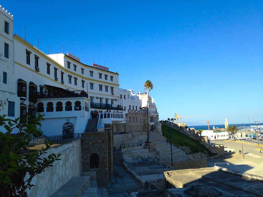 Hotel Continental and Overlooks in the Casbah, Tangier