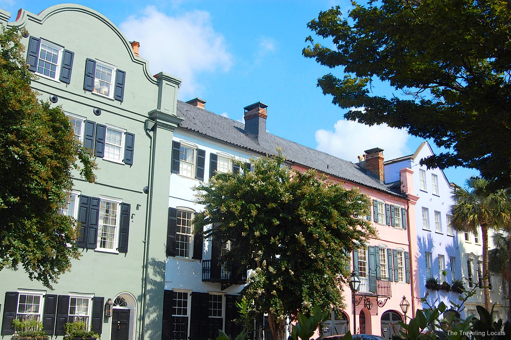 Pastel Colors of Rainbow Row Charleston South Carolina