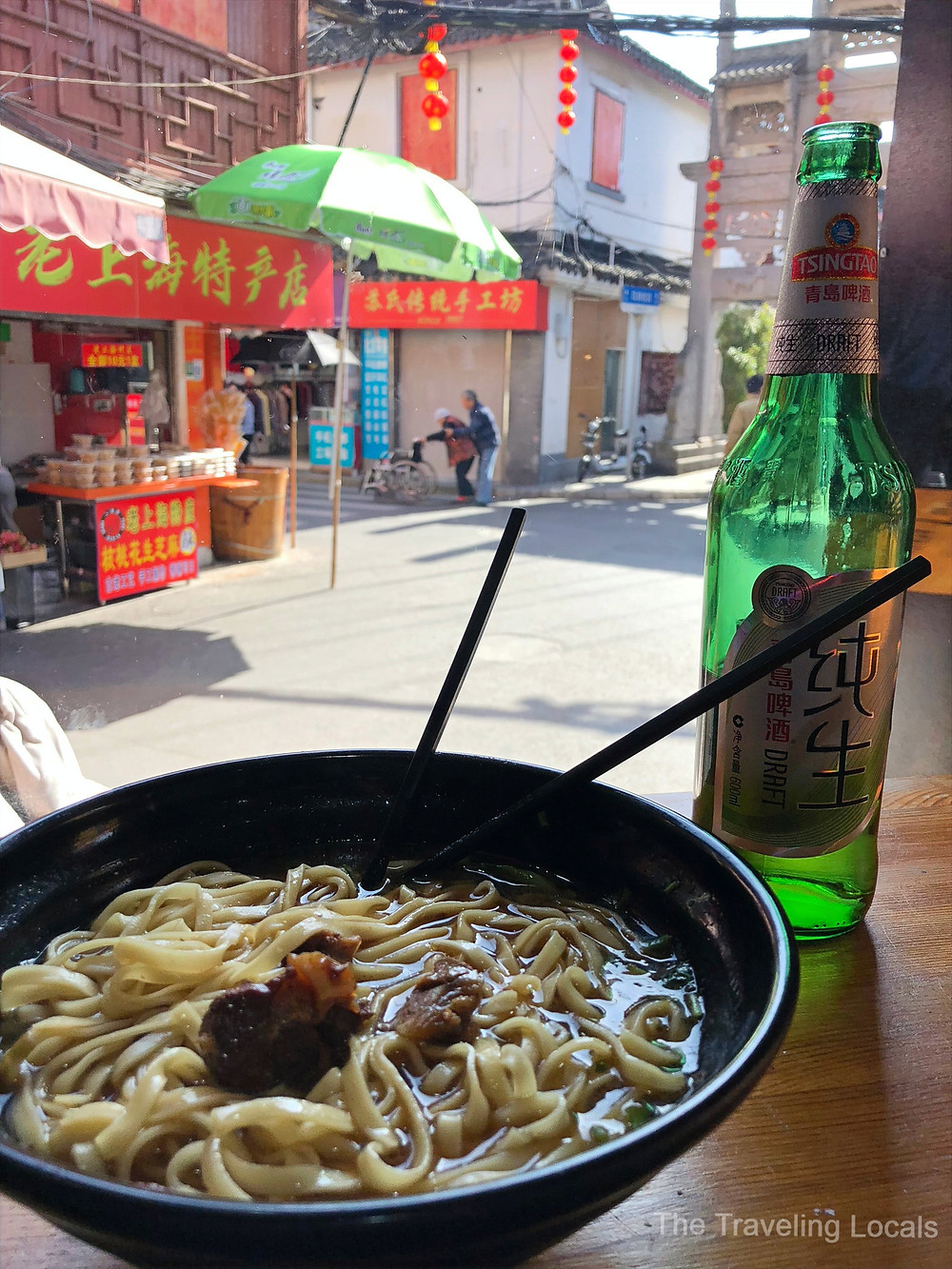 delicious thing noodles lunch shanghai china the traveling locals