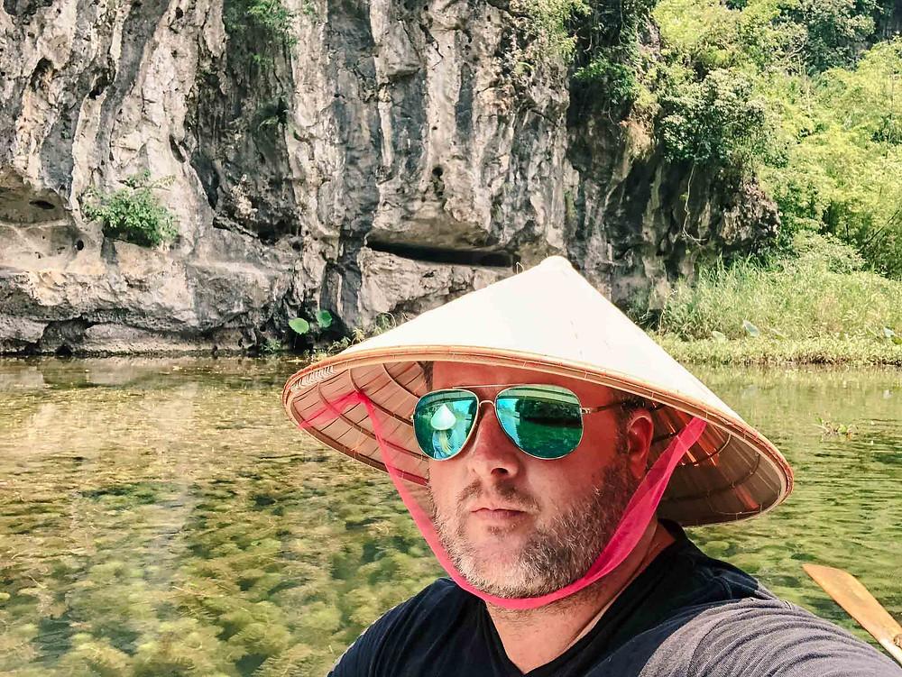 Boating in Tam Coc Vietnam