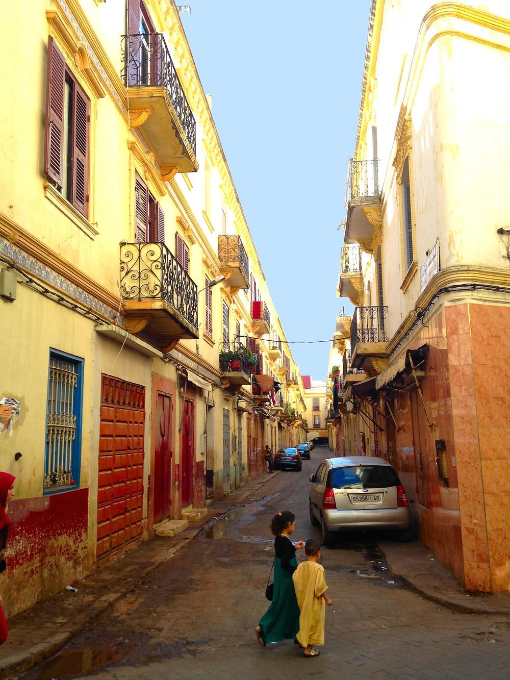 Streets in the Medina Tangier Morocco