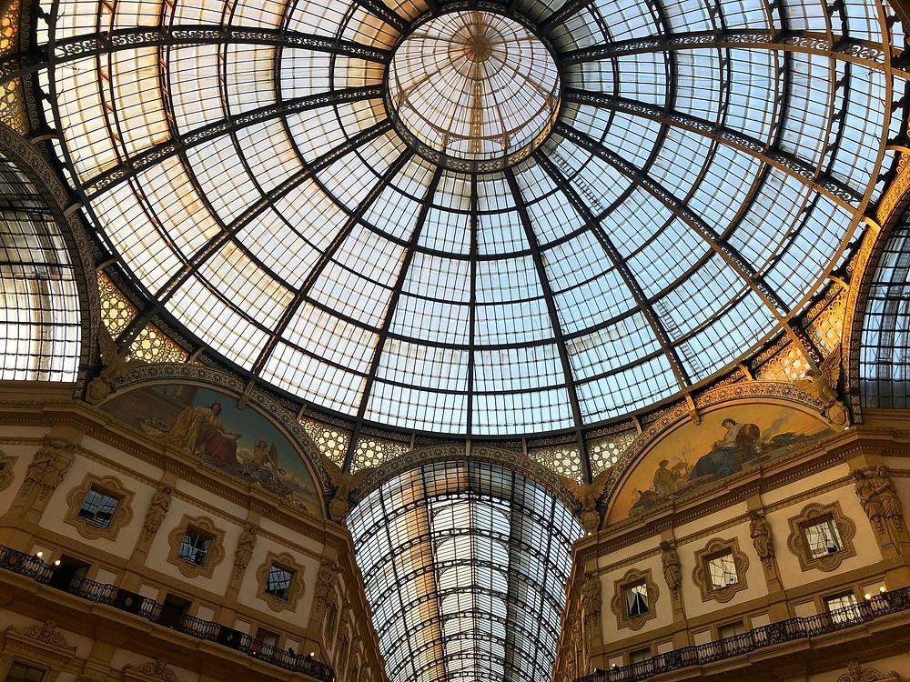 Amazing Glass Ceilings in Galleria Vittorio Emanuele