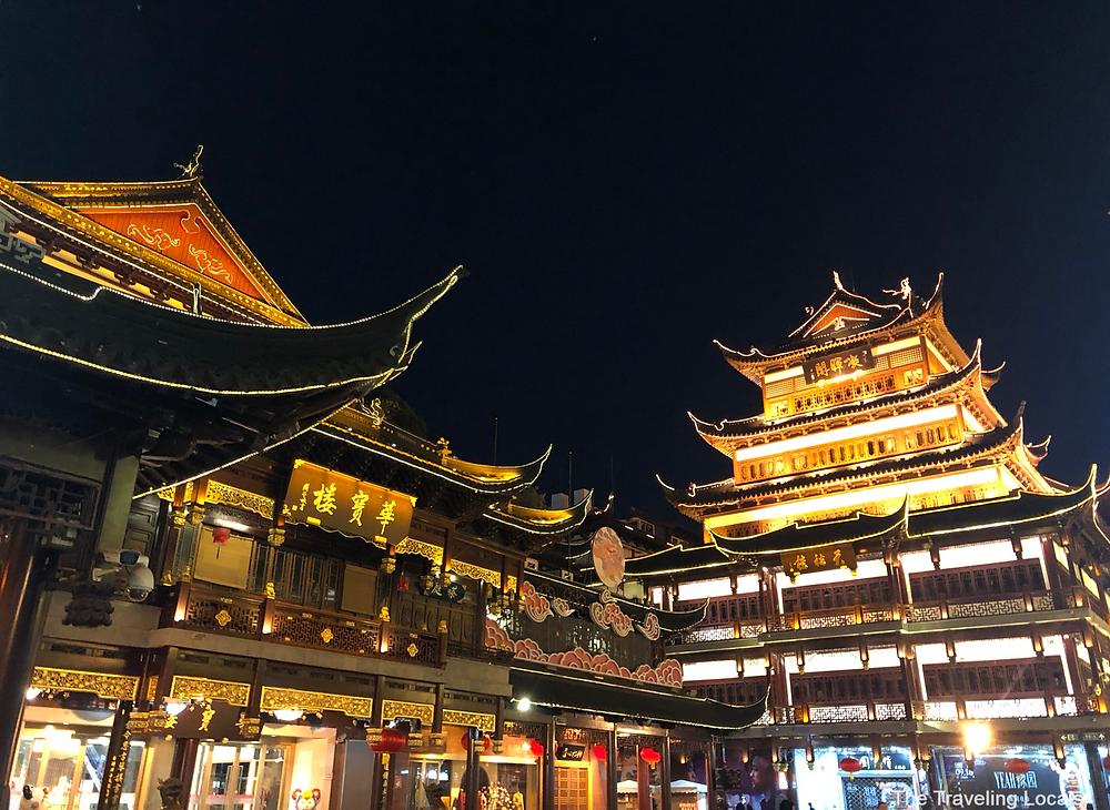 Yuyuan Market Shanghai China the traveling locals
