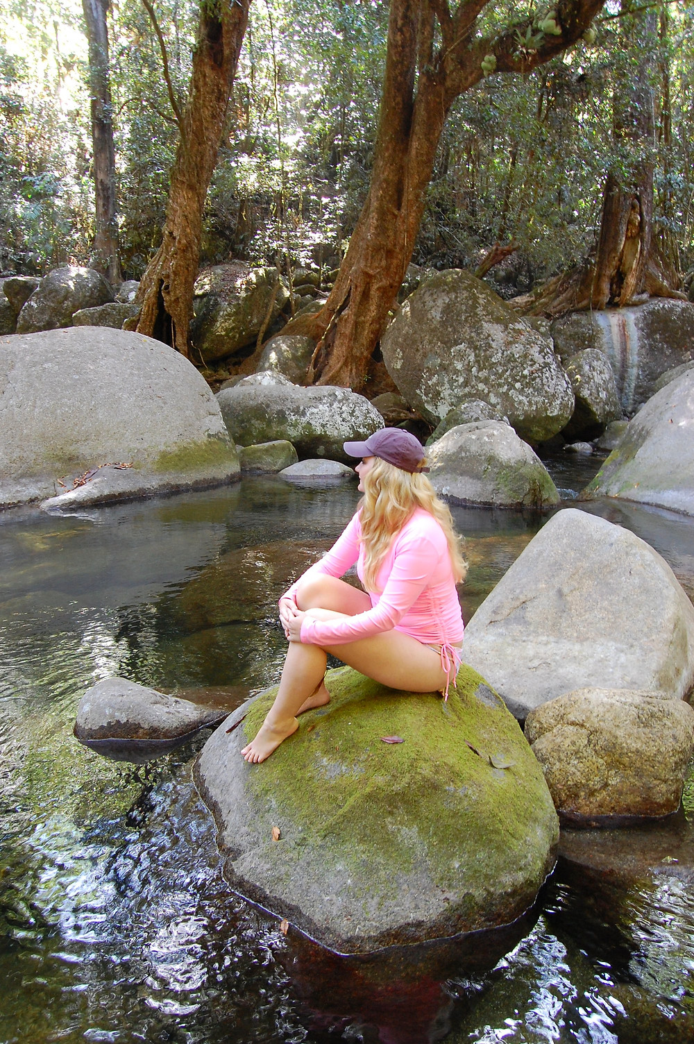 Private swimming hole in Mossman Gorge