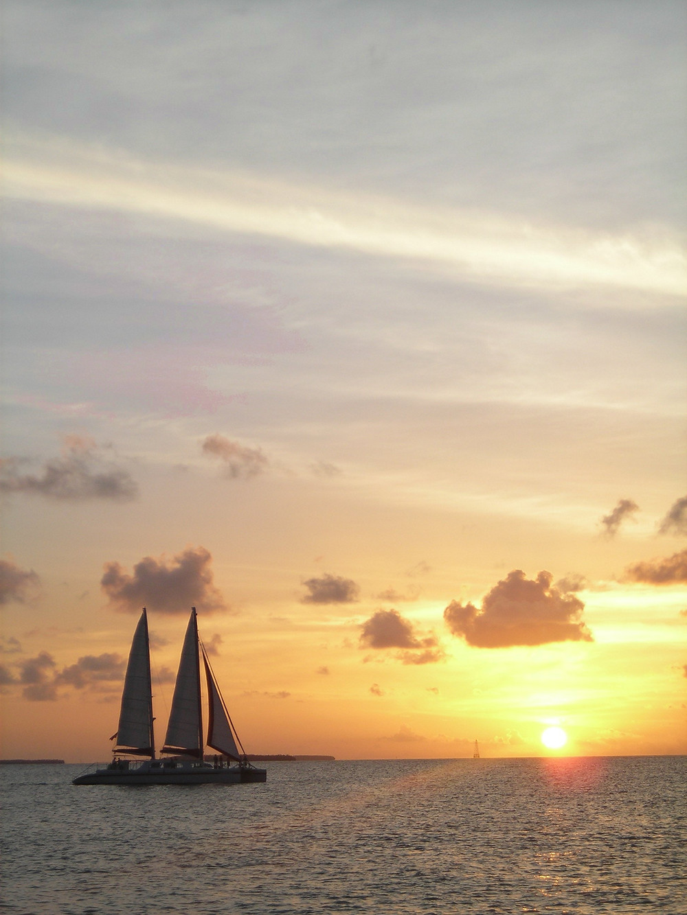 Sailboat at Sunset Mallory Square, Key West travel