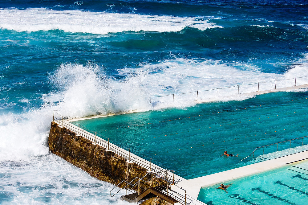 Bondi Beach Iceberg Pool waves