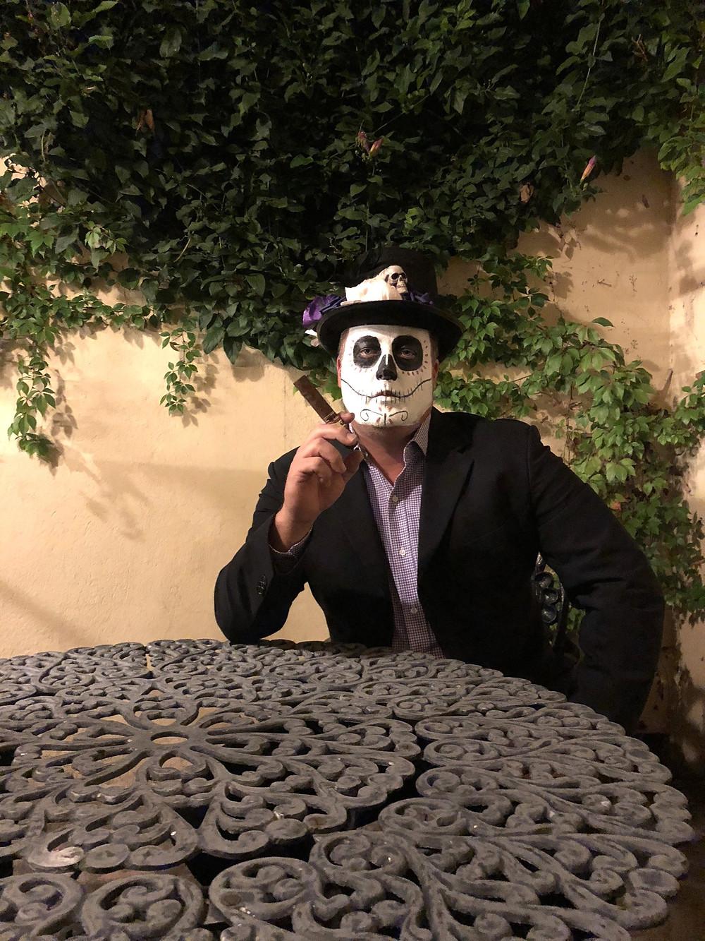 Luke in day of the dead costume, san miguel de allende