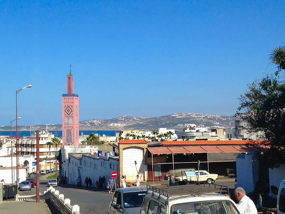 pink colored Sidi Bou Abib mosque grand succo tangier morocco