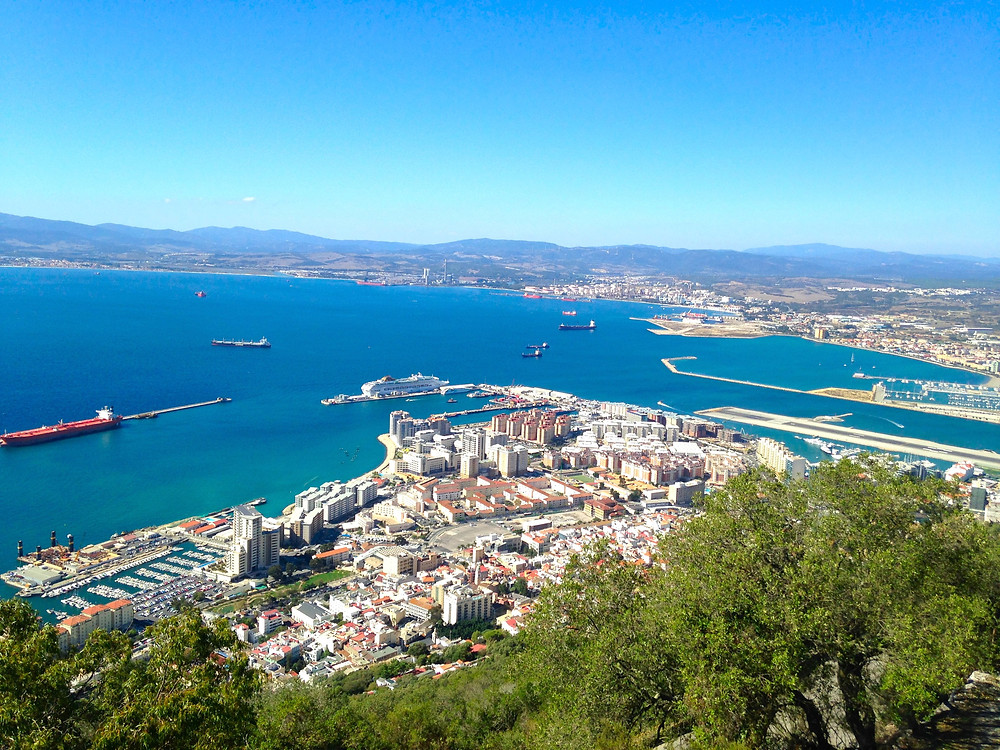 Great Views of the Port of Gibraltar from the top of the rock