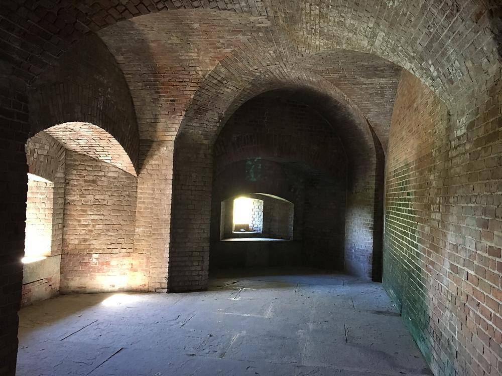 Inside Zachary Taylor Fort, Key West florida