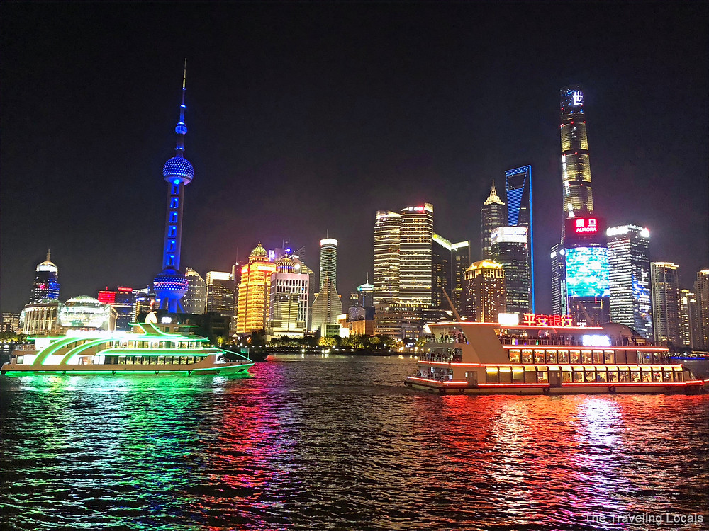 Pudong Skyline from the Bund shanghai china the traveling locals
