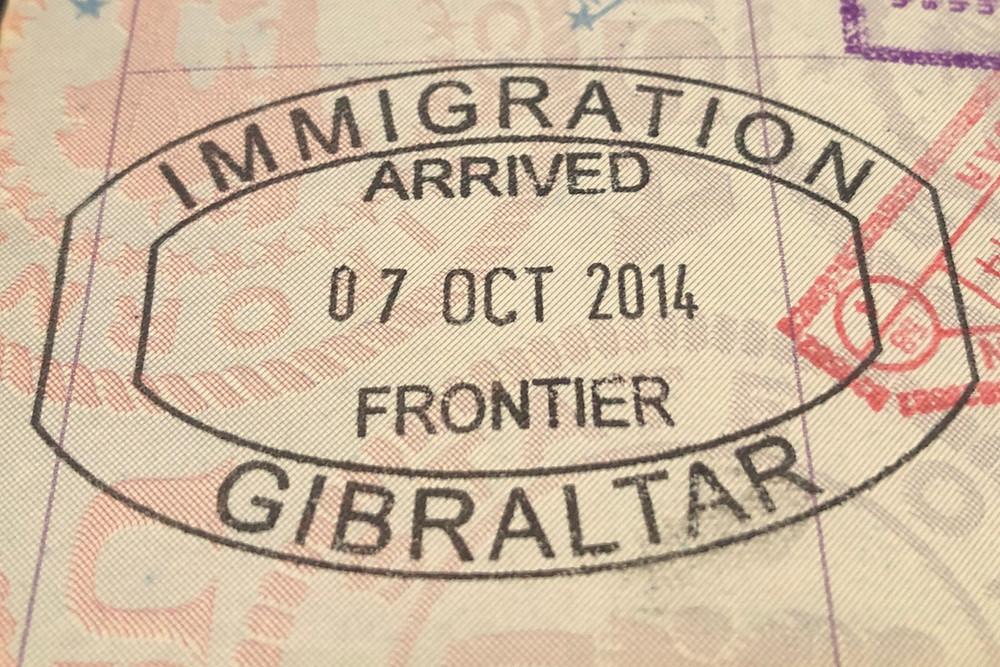 Rare Gibraltar Passport Stamp