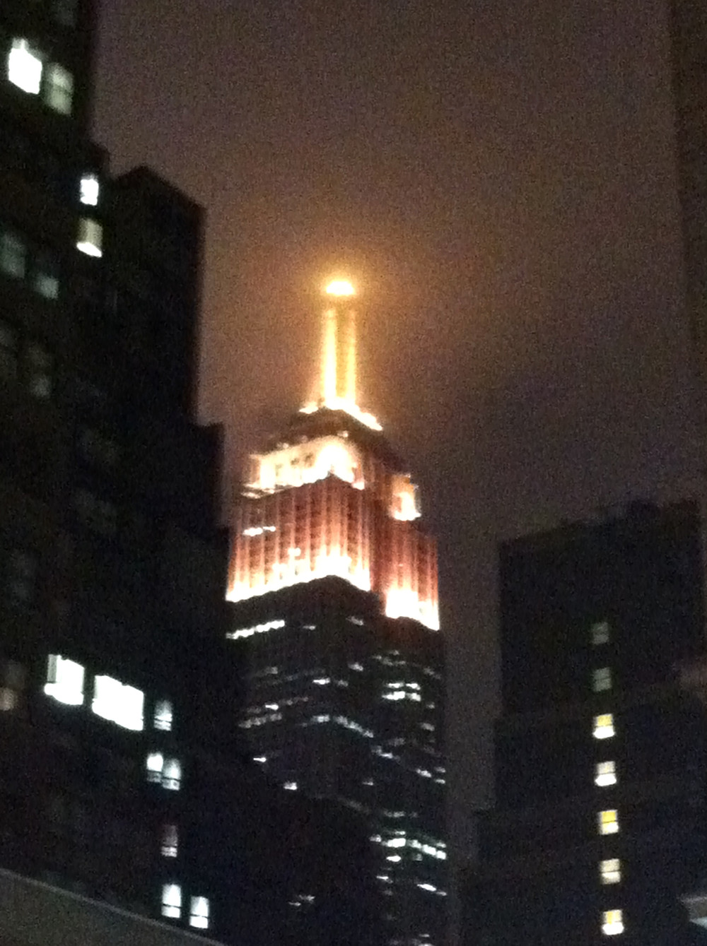 Empire State Building in the Cold Fog