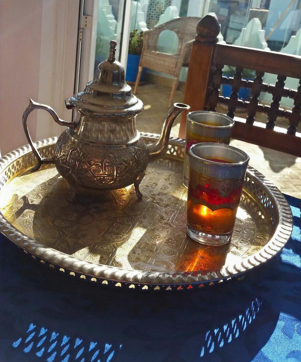 Traditional Moroccan tea tangier Morocco Dar Yasmine Hotel