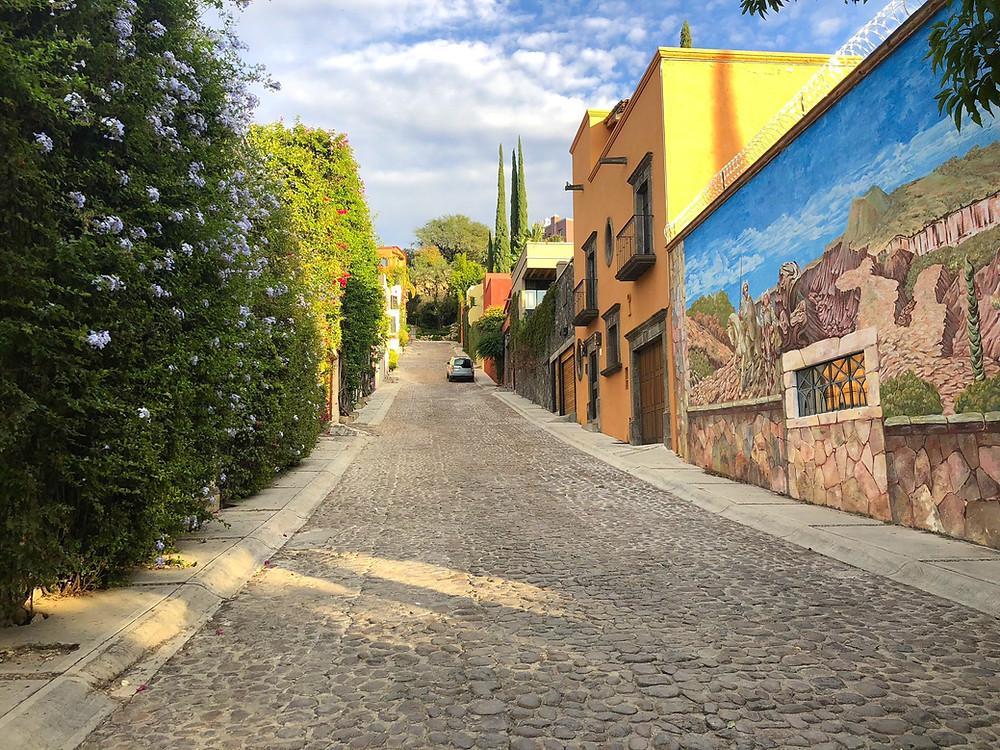 Beautiful cobblestone streets of San Miguel de Allende