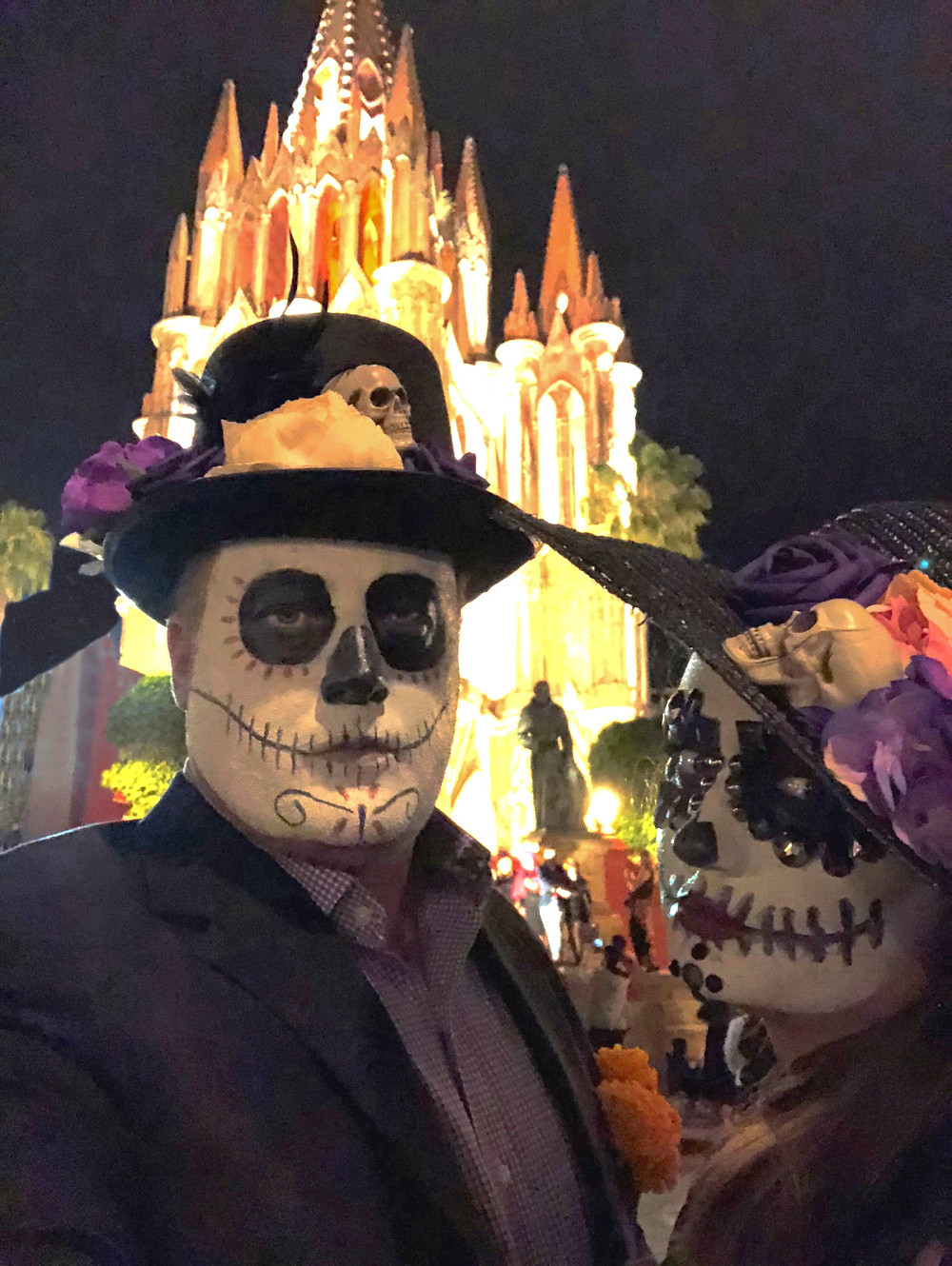 Day of the Dead in Main Plaza with Church of San Miguel Arcángel