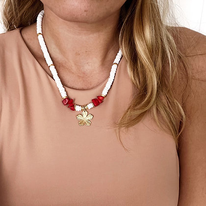 Collier chips coquillage Tahiti