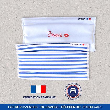"""Le Pack Masque """"Bisous Bleu"""""""