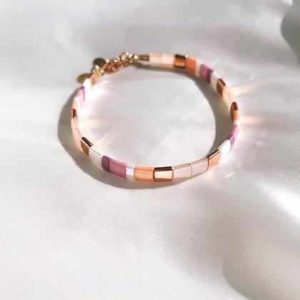 Bracelet Rose et Or