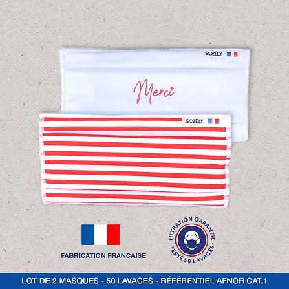 "Le Pack Masque ""Merci rouge"""