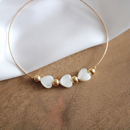 Bracelet Jonc 3 Coeurs en Gold Filled