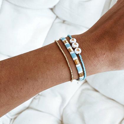 Bracelet coeurs turquoise Bahamas