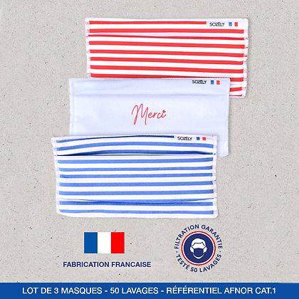 """Le Pack Masque """"Merci rouge et bleu"""""""