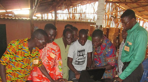 Group Using Computers