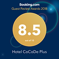 Booking.com Guest Reviw Awards 2018 8.5 out of 10