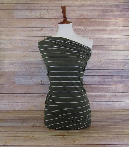 Olive - Pointelle - Stripes