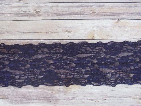 "Stretch Lace - Imperial Purple - 5.5"""