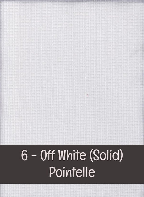 White - Pointelle - Solids