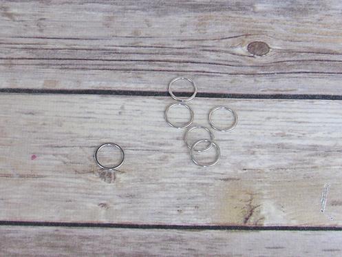 "1/2"" Silver Bra Rings"