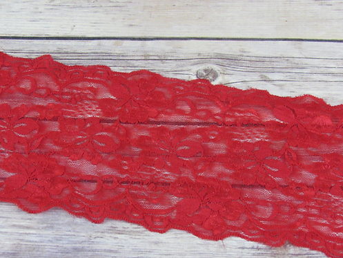 """Stretch Lace - Red - 5"""""""