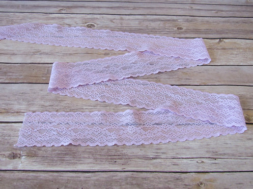 Stretch Lace - Pale Iris - 2 3/8""