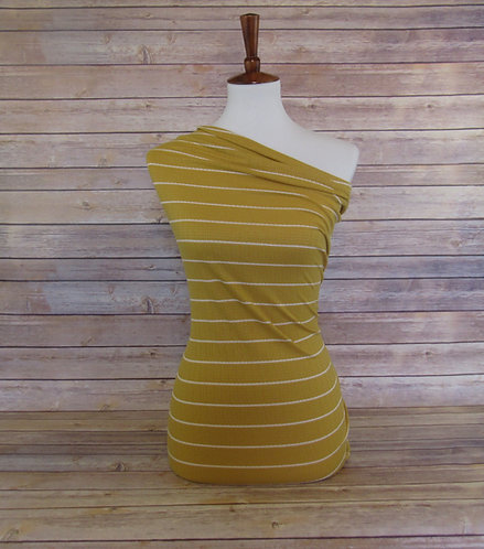 Mustard - Pointelle - Stripes