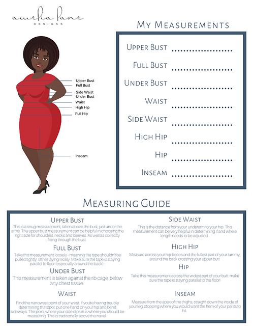 Printable Measurement Chart