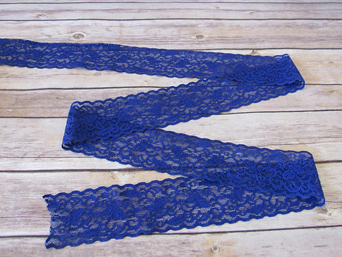 Stretch Lace - Symphony Blue - 2 3/8""