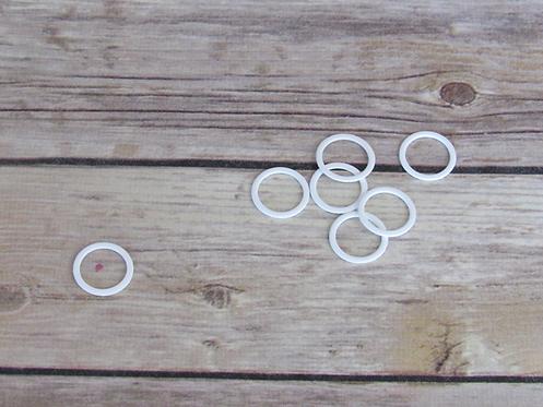 "3/4"" Metal Coated Bra Rings - White"