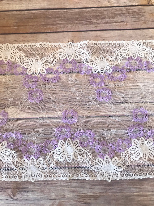 Stretch Lace - Lilac - 9""
