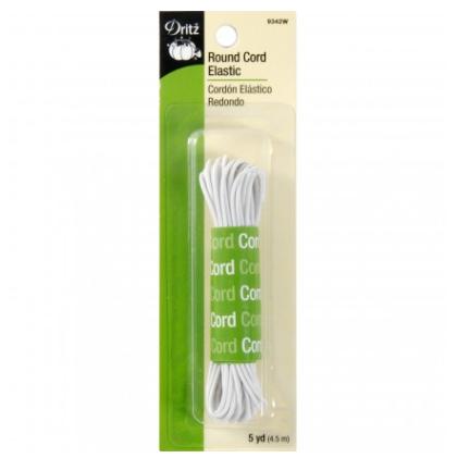 Dritz Cord Elastic - White - 5yd