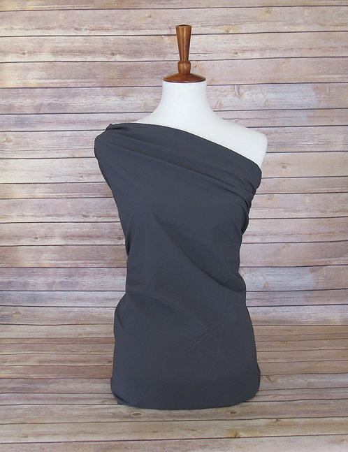 Charcoal - Stretch Woven - 160GSM