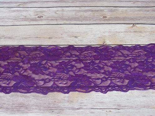 "Stretch Lace - Byzantium - 5.5"""