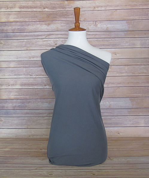 Charcoal - Double Brushed Poly - Solids