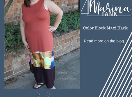Marina Maxi with Color blocking